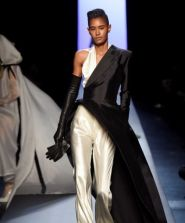 JEAN PAUL GAULTIER SS15 HAUTE COUTURE – THE BLACK AND WHITE AFFAIR OF TUXEDO AND DRESS HYBRIDS