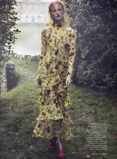 1. Magdalena Jasek w Harper`s Bazaar UK