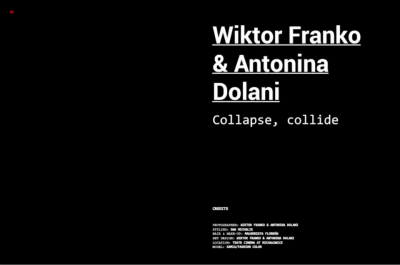 Collapse, Collide edytorial dla Confashion Magazine