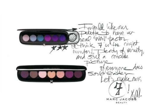 1. Szkice Marca Jacobsa z pracy nad linią Marc Jacobs Beauty