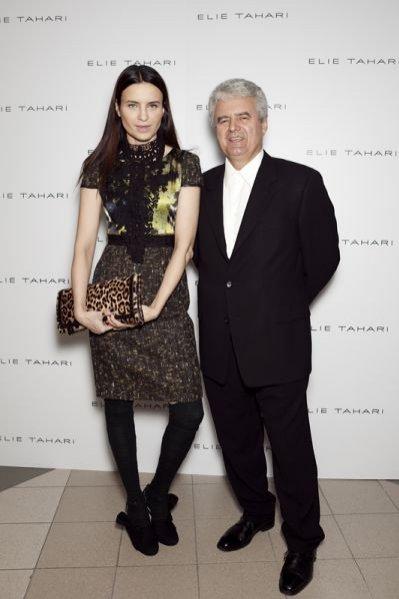 Joanna Horodyńska i Leszek Conder (właściciel butiku) na otwarciu pierwszego salonu marki Elie Tahari w Polsce