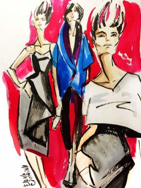 Rysunek Eleny Ciupriny dla Lamode.info
