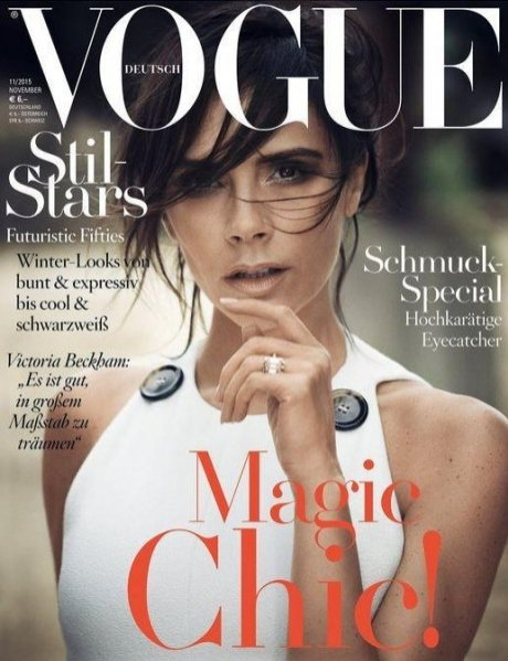 1. Victoria Beckham w Vogue Germany