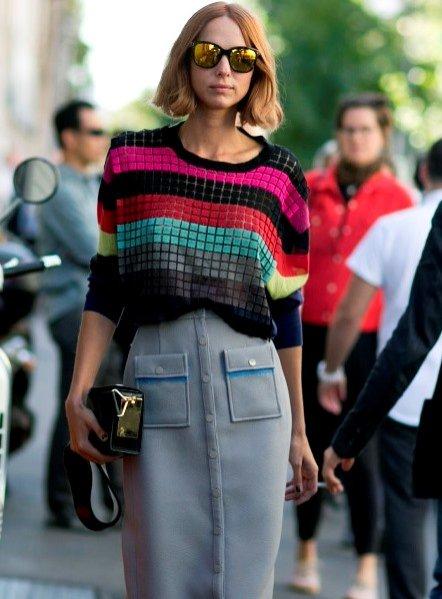 Moda uliczna Milan Fashion Week wiosna lato 2016