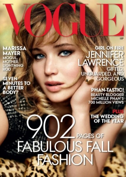 Jennifer Lawrence w amerykańskim Vogue'u - September Issue