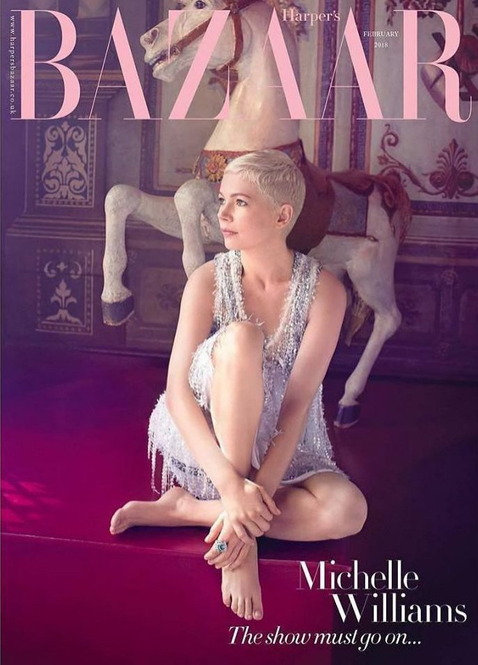Michelle Williams na okładce Harper`s Bazaar UK (luty 2018)