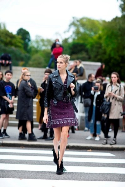 Moda uliczna London Fashion Week wiosna lato 2016 - Elena Perminova