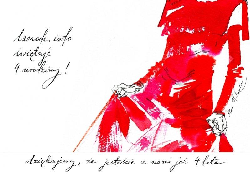 Urodzinowa kartka LAMODE.INFO projektu Anny Halarewicz