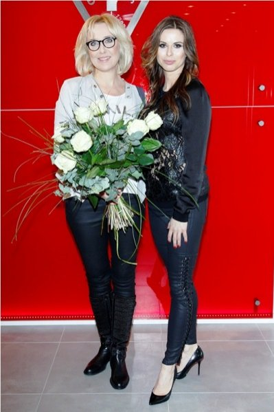 1. Agata Młynarska i Anna Pawlik na prezentacji kolekcji marki Guess