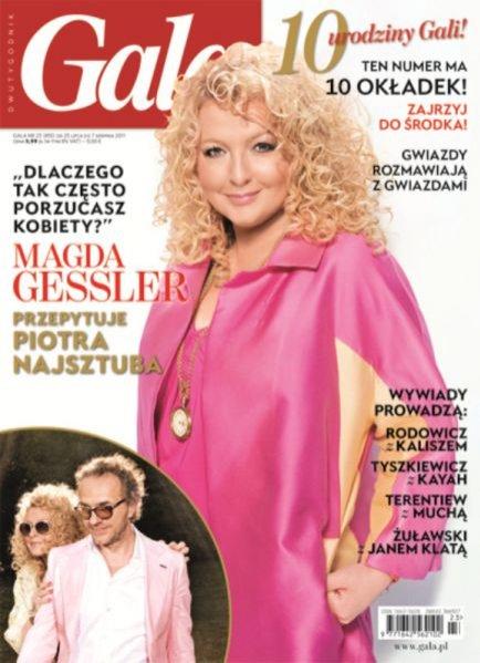 Magda Gessler na jubileuszowej okładce magazynu Gala