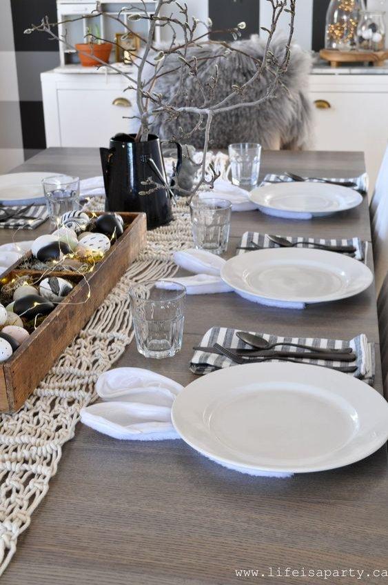Wielkanoc 2019 - dekoracja stołu