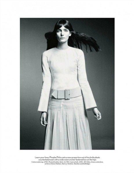 Zuzanna Bijoh w sesji The finest line w Vogue UK