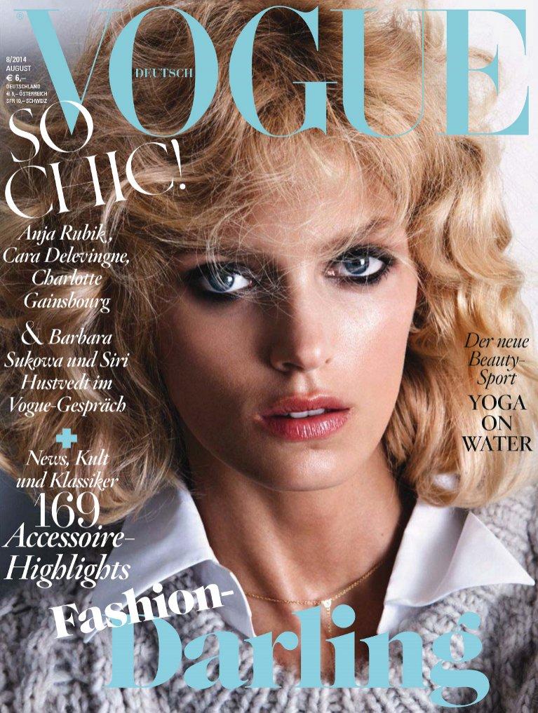 Anja Rubik Vogue niemiecki sierpień 2014