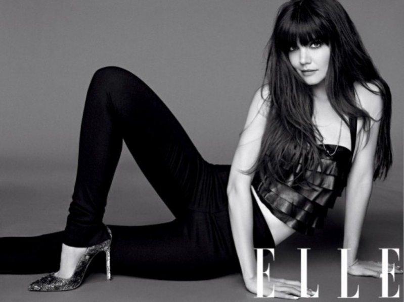 Katie Holmes na okładce sierpniowego Elle US