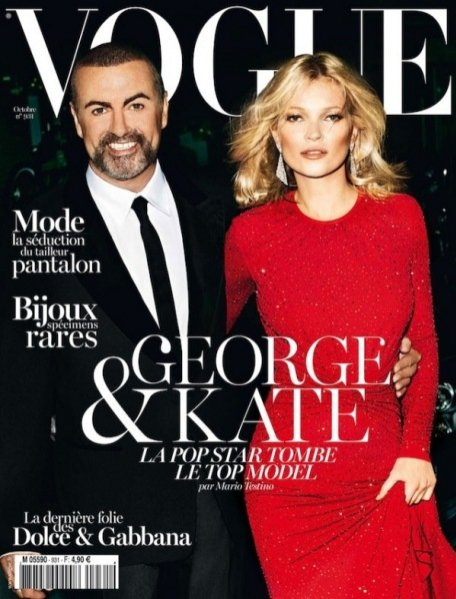 George Michael i Kate Moss na okładce Vogue Paris
