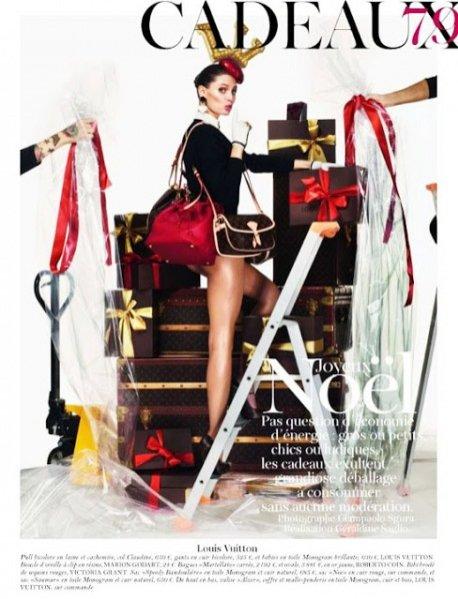 świąteczna sesja Vogue Paris grudzień 2011
