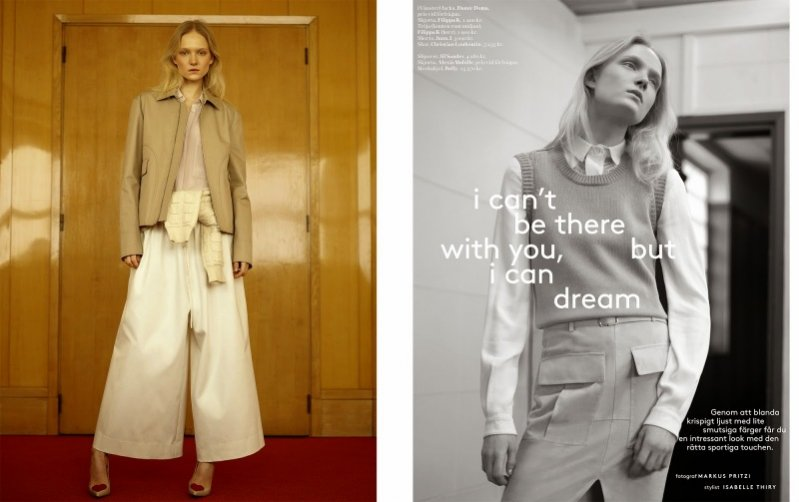 "1. Maja Salamon w sesji ""I can't be there with you, but  I can dream"" dla kwietniowego numeru Styleby Magazine"