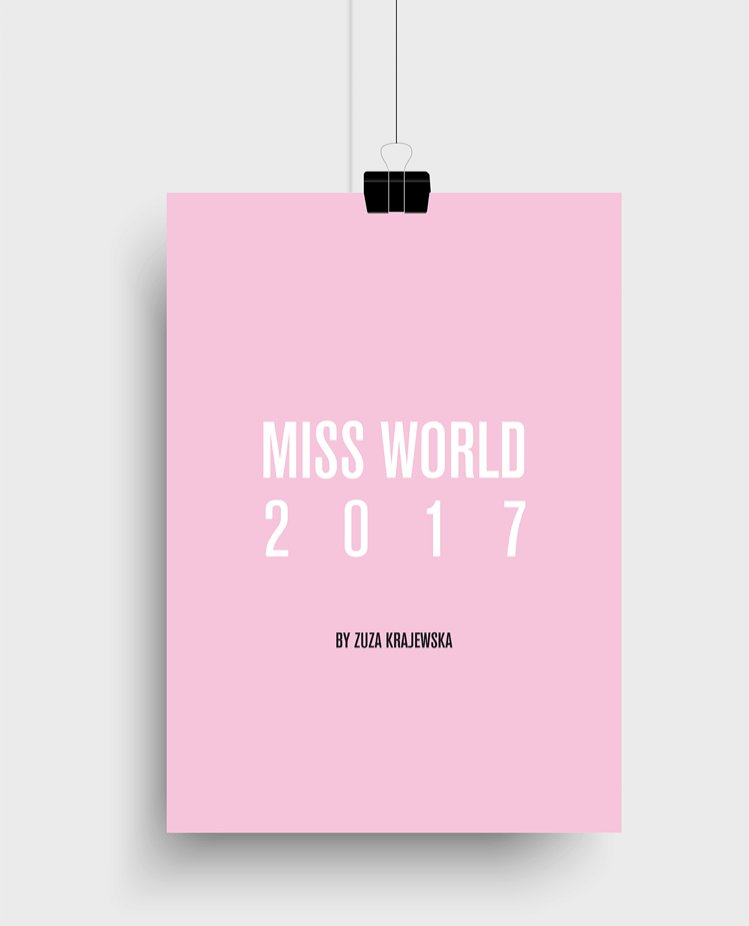 Local Heroes Kalendarz Miss World 2017