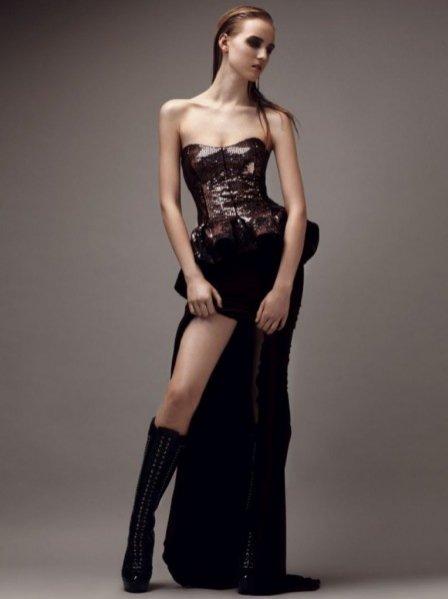 Zuzanna S. w lookbooku Eva Minge na sezon jesień zima 2012