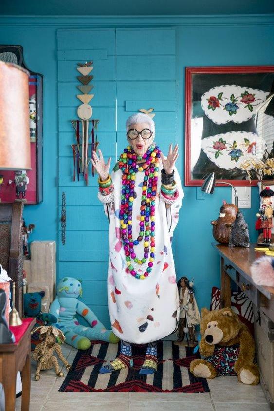 Iris Apfel - moda i trendy