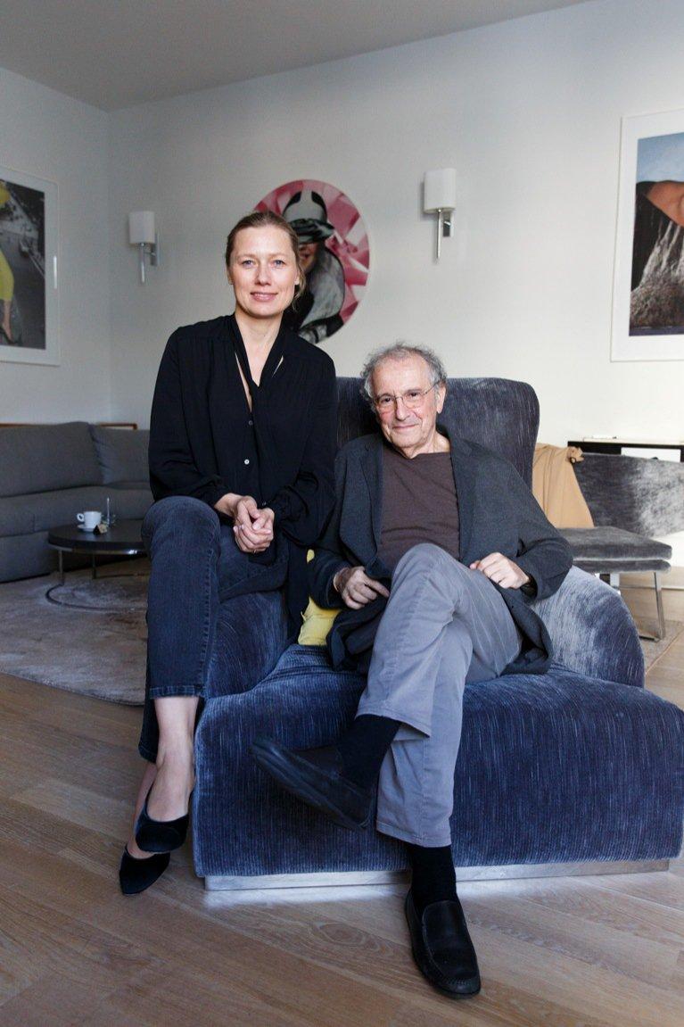 Agata Tanter podczas rozmowy z Ryszardem Horowitzem