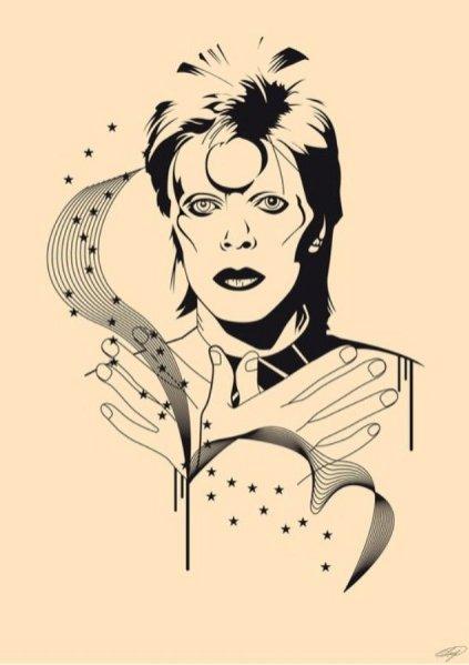 Ilustracja Davida Bowiego