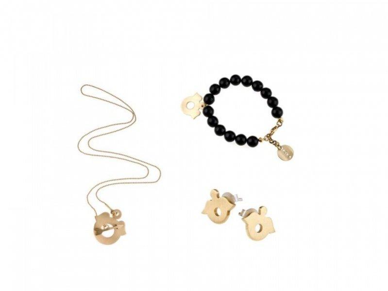 zestaw biżuterii ORSKA - naszyjnik 380 PLN, bransoletka 420 PLN, kolczyki 160 PLN