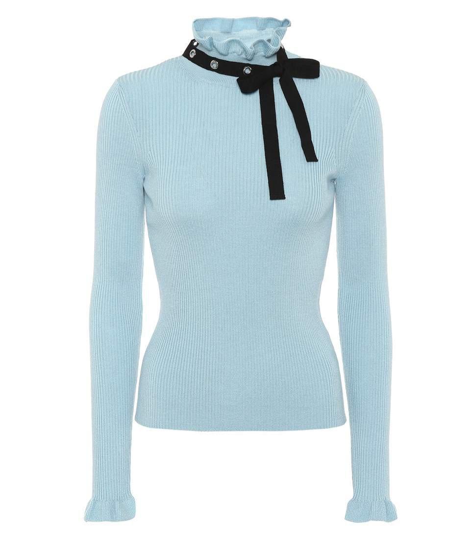 Niebieski sweter ze wstążką, REDValentino/Mytheresa, 415 eur
