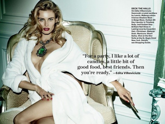 Life of the Party - edytorial Mario Testino dla Allure Magazine