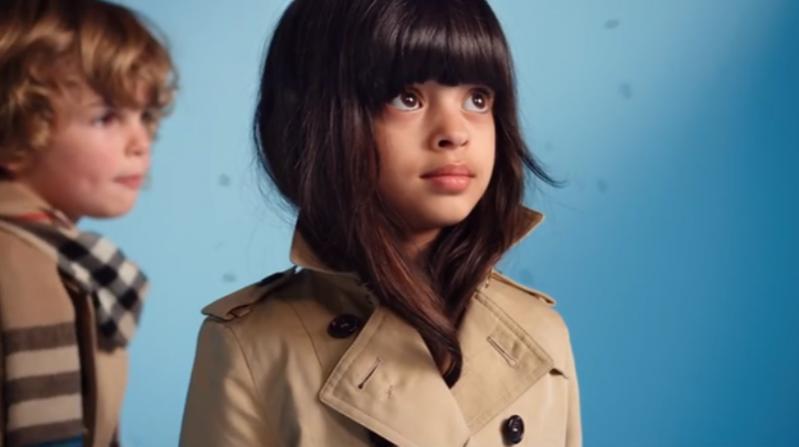 1. Laila w kampanii Burberry Children wiosna lato 2015
