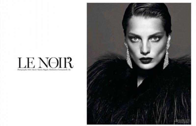 """Daria Werbowy w """"Le Noir. Partie 4"""""""