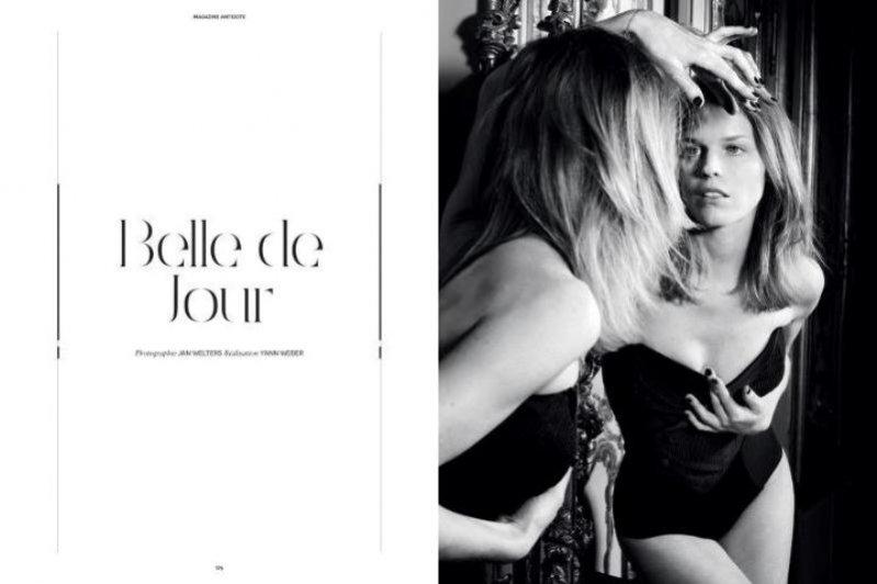 "edytorial ""Belle de jour"" w magazynie Antidote"