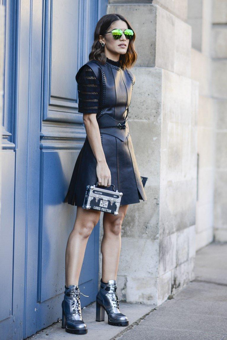 Skórzana sukienka
