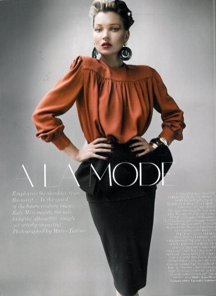Kate Moss w sierpniowym Vogue UK