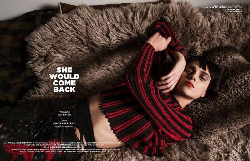 Agnes Sokołowska z New Age Models w edytorialu dla D'Scene Magazine