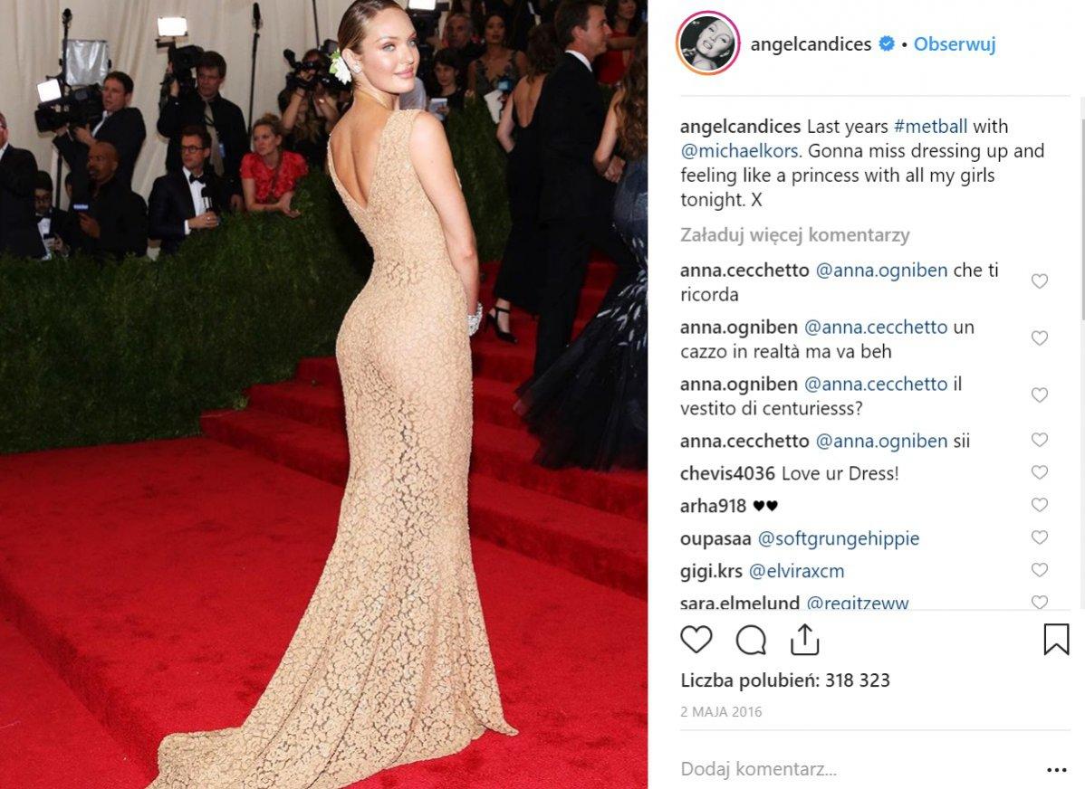Candice Swanepoel w koronkowej sukience