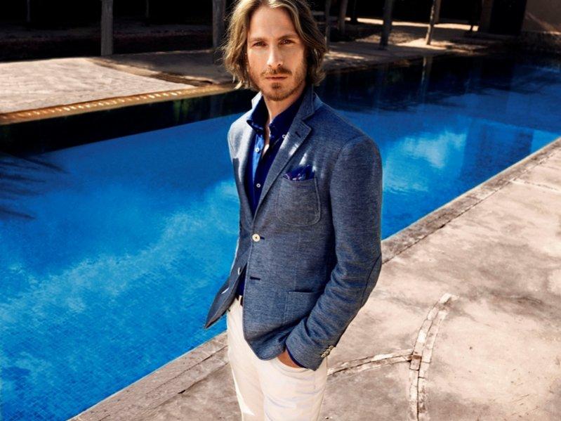 Ryan Burns w kampanii Massimo Dutti wiosna lato 2012