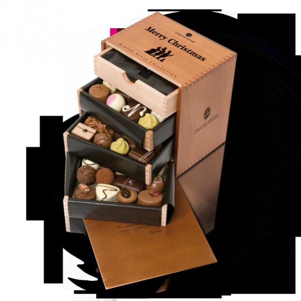 Pralinki Merry Massimo Chocolissimo - 48 pralinek, których smak pozostawi niezatarte wrażenie na wiele chwil jeszcze po Świętach,  287,50  PLN