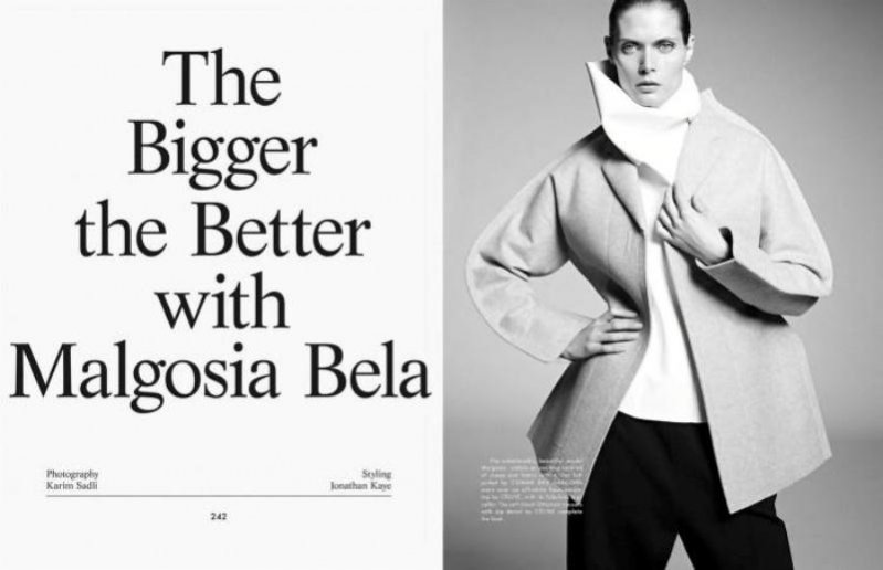 "edytorial ""The Bigger the Better with Malgosia Bela"""