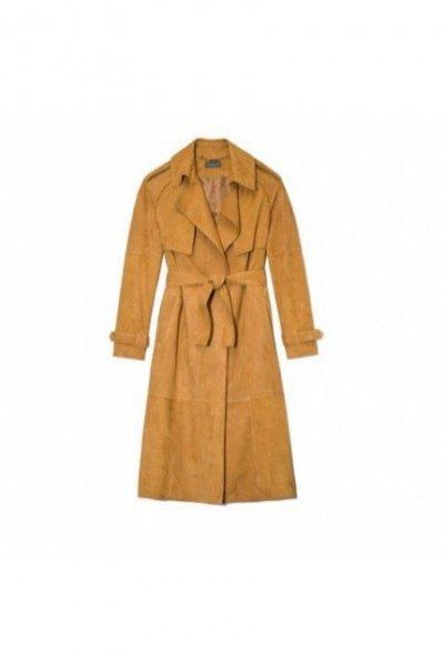 1. MALLY&CO, Płaszcz zamszowy ze skóry koziej, boutiqueLaMode.com, cena: 5990 zł