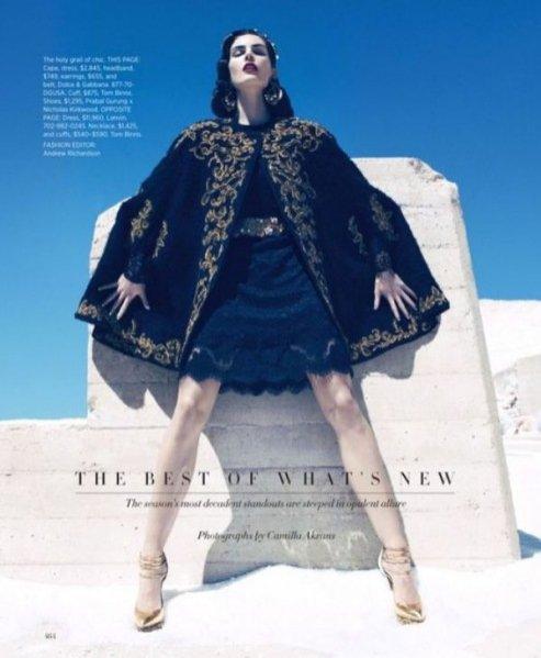 """""""The best of what's new"""" w Harper's Bazaar US"""