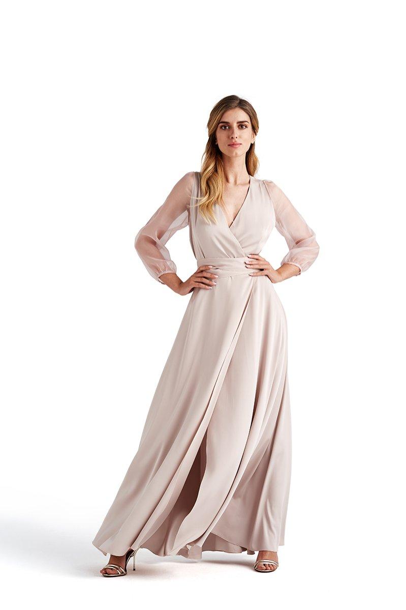 Sukienka z transparentnymi rękawami, Dorota Goldpoint