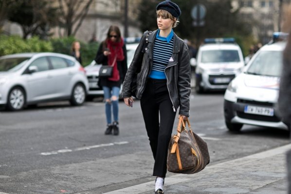 1. Moda uliczna Paryż haute couture 2016 - Edie Campbell