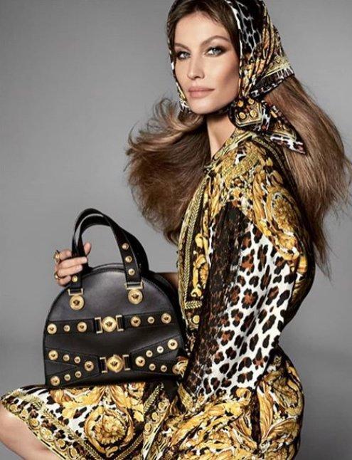 Gisele w kampanii Versace