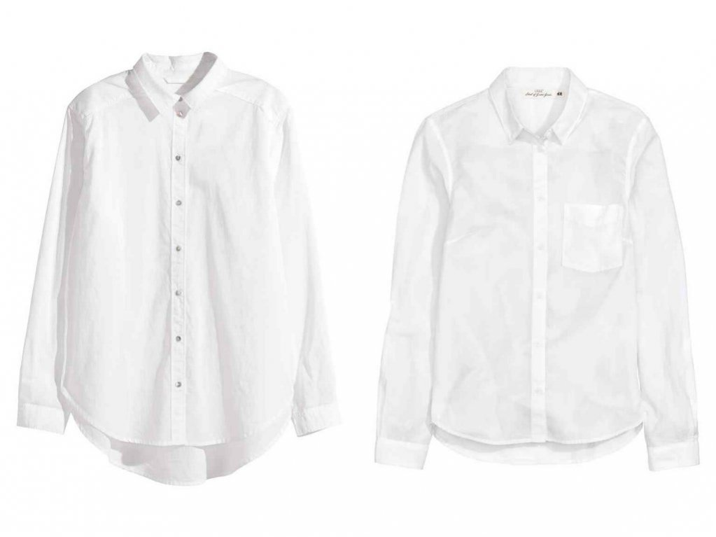 BIAŁA KOSZULA / Koszule H&M (55,90 zł i 47,90 zł)