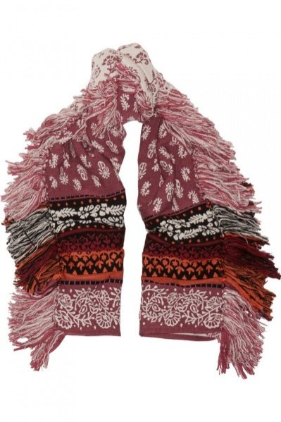 1. BURBERRY PRORSUM, Wool, cashmere and cotton-blend jacquard scarf, cena ok. 2700 zł