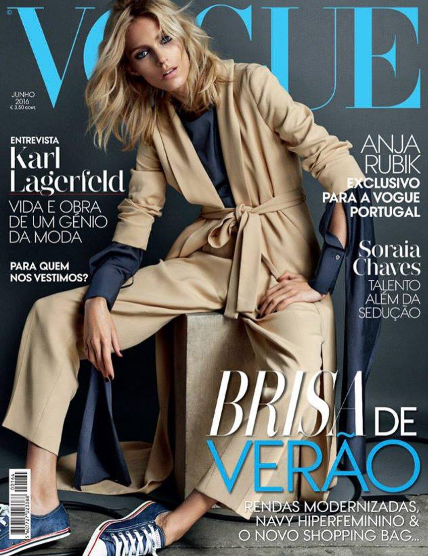Anja Rubik na okładce Vogue Portugal czerwiec 2016