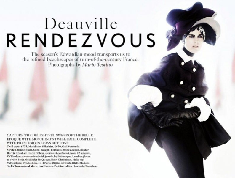 "edytorial ""Deauville Rendezvous"" w Vogue UK"