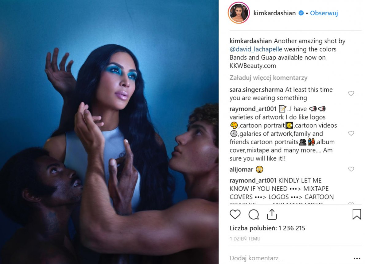 Kim Kardashian w sesji zdjęciowej KKW Beauty