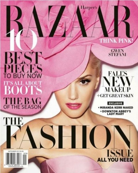Gwen Stefani na okładce Harper's Bazaar